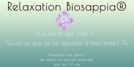 Découvrir la Relaxation Biosappia® pour les plus jeunes  - St Priest billets