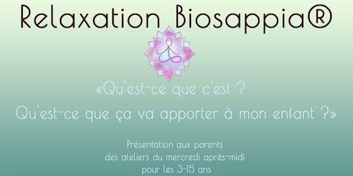 La Relaxation Biosappia® pour les plus jeunes  - St Priest
