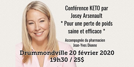 DRUMMONDVILLE - Conférence KETO - Pour une perte de poids saine et efficace! 25$ billets