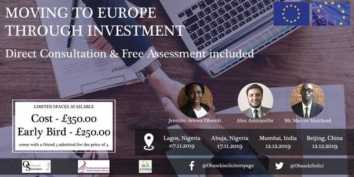 Moving to Europe through investment