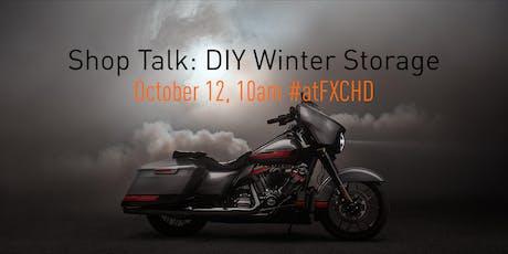 Shop Talk: DIY Motorcycle Storage tickets