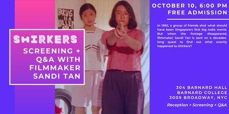 "Feminist Film Series presents ""Shirkers"" with Sandi Tan Q&A tickets"