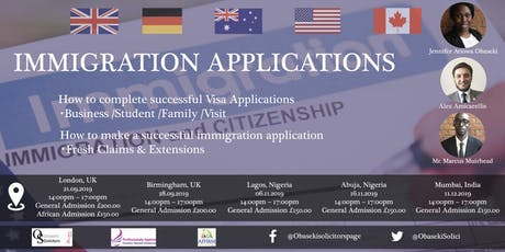 Immigration Applications tickets