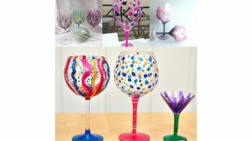 Paint Wine Glasses & Laugh With Host Boogie