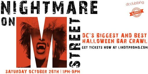 Nightmare on M Street Washington DC Halloween Bar Crawl 2019 by Lindypromo
