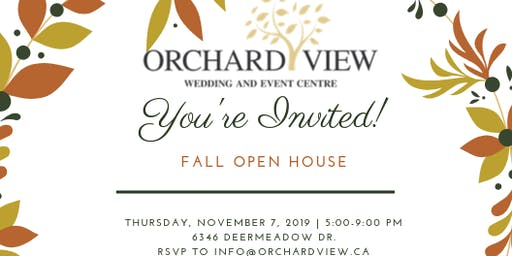 Orchard View Fall Open House