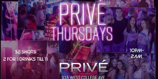 Privé Thursdays