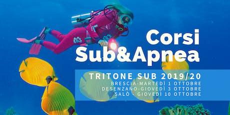 Brescia|Prova Corsi SUB e APNEA biglietti