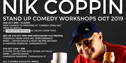Stand Up Comedy Workshops - with Nik Coppin