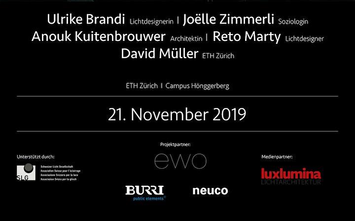 Abendseminar an der ETH Zürich - Licht & Dunkelheit in urbanen Räumen: Bild