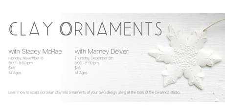 Create Porcelain Ornaments with Stacey McRae tickets