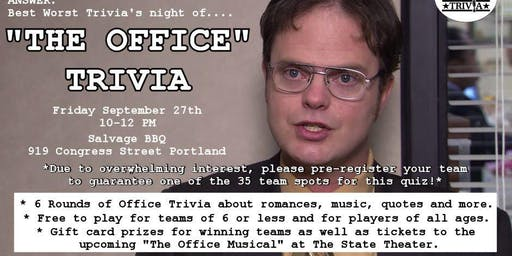 Office Trivia at Salvage BBQ