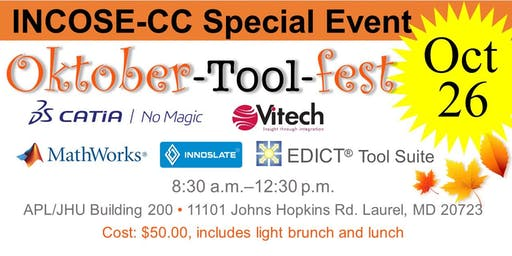 The Systems Engineering Oktober-Tool-fest  (Saturday Vendor Presentations)