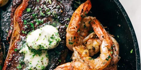 Cast Iron Steak and Shrimp Cooking Class tickets