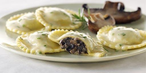 Pasta Making Class-Mushroom Raviolis with Gorgonzo