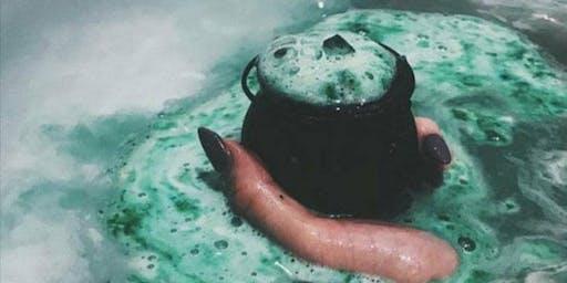Family Halloween Bath bomb workshop