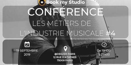 Book My Studio - Conférence : Les métiers de l'industrie musicale #4 billets