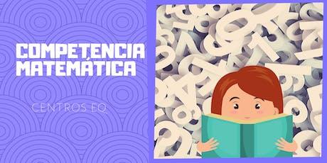 Taller de Competencia Matemática en Centros EQ entradas