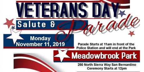 City of San Bernardino Veterans Day Salute and Parade tickets