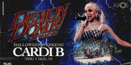 10.31 Cardi B Demon Dome Halloween Weekend Party @ KAOS Nightclub Las Vegas