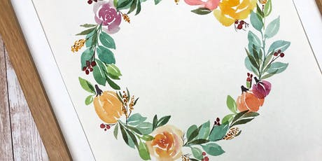 Fall Watercolor Wreath Workshop tickets