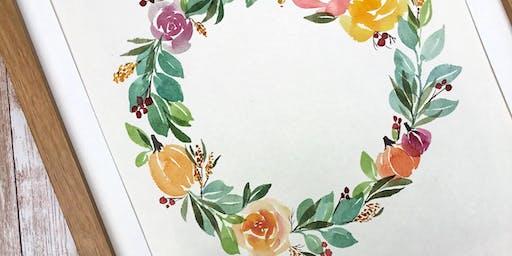 Fall Watercolor Wreath Workshop