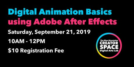 Digital Animation Basics with Adobe After Effects tickets