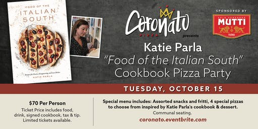 "Katie Parla: ""Food of the Italian South"" Cookbook Pizza Party"