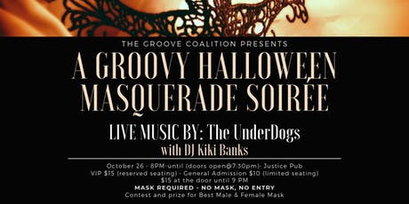 "The Groove Coalition Presents  ""A Groovy Halloween Masquerade Soirée"" tickets"