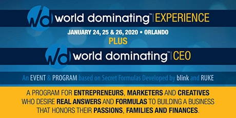 World Dominating Experience - Jan 2020 tickets