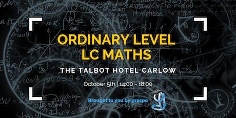 Carlow Ordinary Level Leaving Cert Maths Crash Course tickets