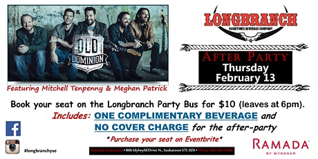 Old Dominion Longbranch Party Bus and After party! tickets