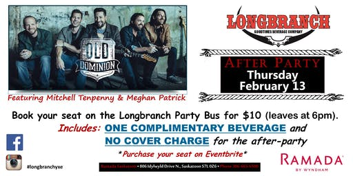 Old Dominion Longbranch Party Bus and After party!