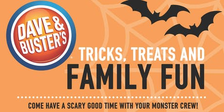 EAT. PLAY. TRICK. TREAT. Halloween Party @ Dave & Buster's Tampa tickets
