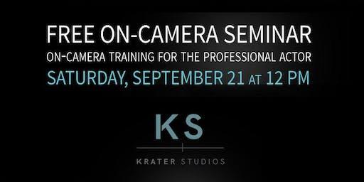 Krater Studios - Free On-Camera Acting Seminar