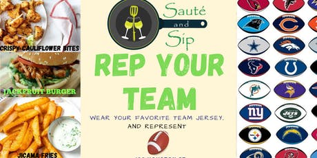 Rep Your Team - Sauté and Sip tickets