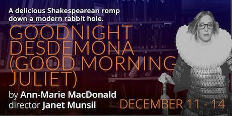 Goodnight Desdemona (Good Morning Juliet) tickets