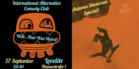 The 'Well That Was Weird' Alternative Comedy Autumn Special Tickets
