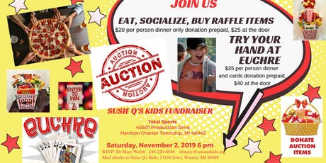 Susie Q's Kids  Annual Fundraiser - Good Eats, Fellowship, and Auction Only tickets