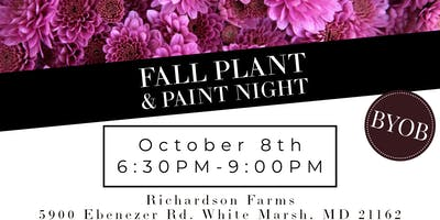 October Fall Plant & Paint Night