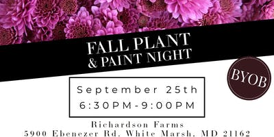 September Fall Plant & Paint Night