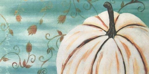 White Pumpkin Canvas Night