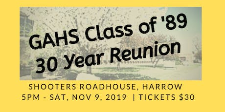 General Amherst Class of '89 - 30 Year Reunion tickets