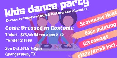 SEEKING VENDORS FOR Kids Dance Party