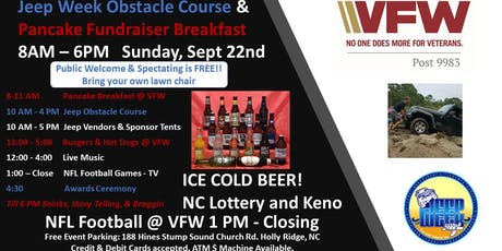 Jeep Week Obstacle Course & Pancake Breakfast tickets