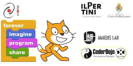 Scratch! Piccoli Coder crescono CoderDojo@DXC @HuboutMakersLab 21 Settembre 19 biglietti