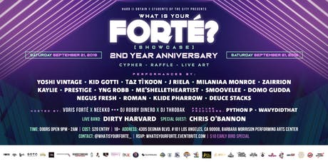 What Is Your Forté? [Showcase] 2 Year Anniversary: Live Band & Performances tickets