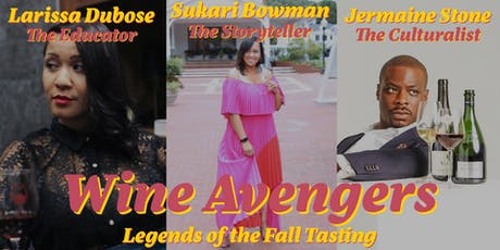 Legends of the Fall guided tasting tickets