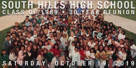 SHHS Class of 89 - 30 Year Reunion tickets