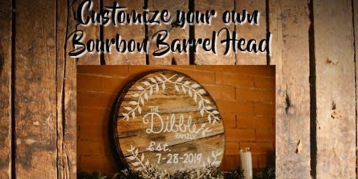 Paint your own Bourbon Barrel